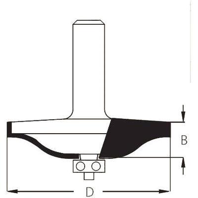 Фреза филёнка волна D66,7 хвостовик 12