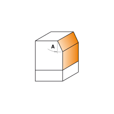 Фреза комбинированная обгонно-фасочная 25° S=8 D=24,5
