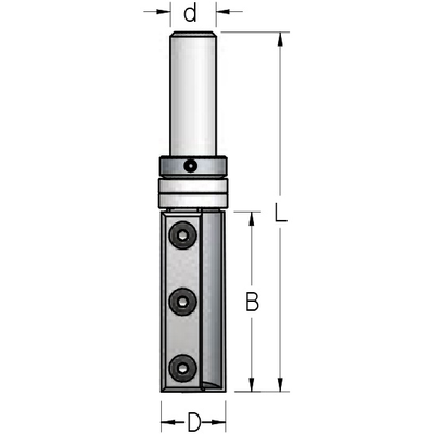 Фреза копир со сменными ножами D19 B50 d12 мм
