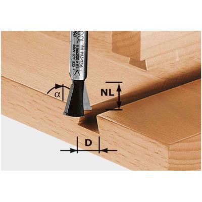 Фреза «ласточкин хвост» HW S8 D14,3/13,5/15°