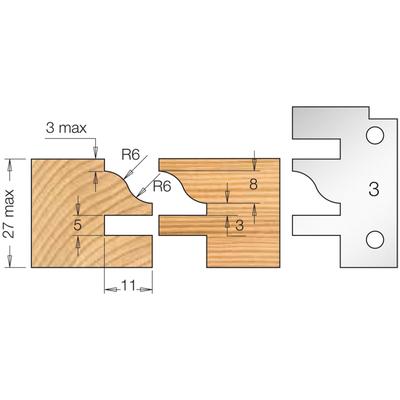 Фреза насадная мебельный ФАСАД профиль 3