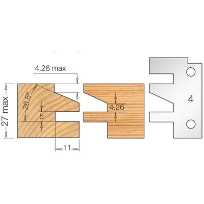 Фреза насадная мебельный ФАСАД профиль 4