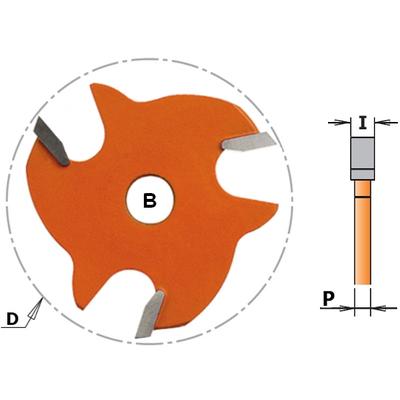 Фреза пазовая (диск) Z3 F=8 D=47,6x3