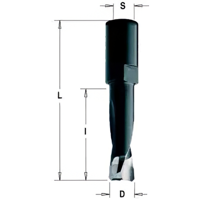 Фреза пазовая DOMINO 6x28x49 Z=2