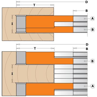 Фреза пазовальная регулируемая из 2-х частей  D=150X14-28X30