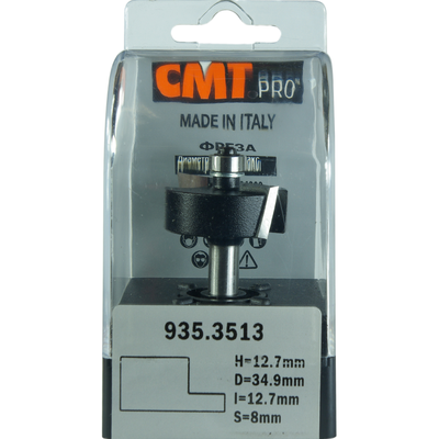 Фреза четвертная CMT-PRO (нижний подшипник) S8 D31,7 I12,7 L57