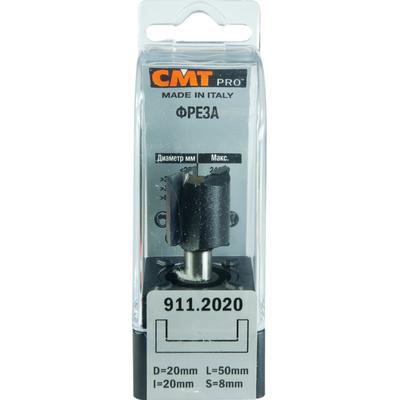 Фреза CMT-PRO пазовая прямая S8 D20 I20 L50