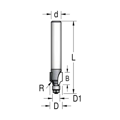 Фреза радиусная D14,2 B11 R3