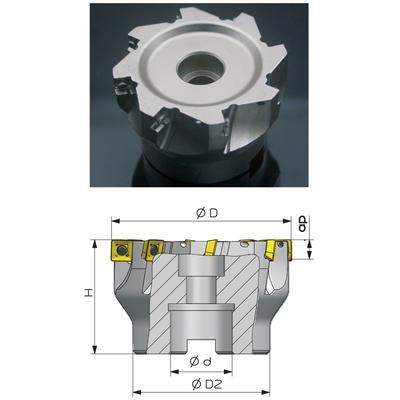 Фреза торцевая с механическим креплением пластин диаметр 100 мм