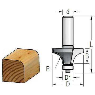 Фреза внутр. радиус R=6.3 (нижн. подшипник)