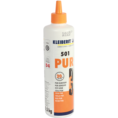 Клей Kleiberit PUR 501.0 по 0.5 кг.