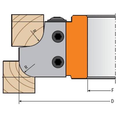 Комплект 2 ножей твердосплавных 40x30x2 R=15 для фрезы 694.007