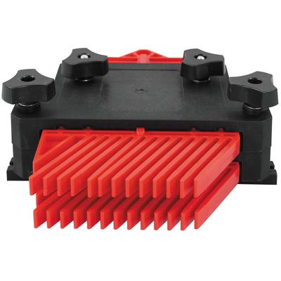 Комплект (2 шт) прижимов гребёнчатых пластиковых с креплением в Т-образный паз