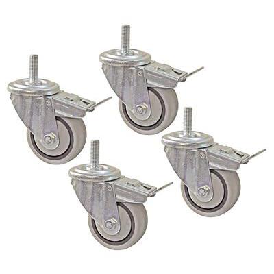 Поворотные ролики с тормозом D75, d11, комплект 4 шт.
