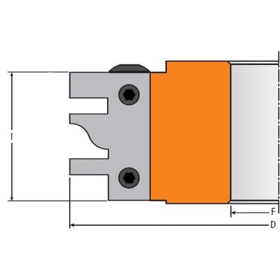 Комплект ножей HM 40x25x2 (B) для 694.014