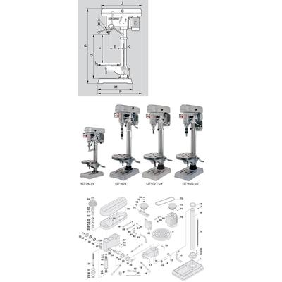 KST-340 Сверлильно-резьбонарезной станок, 3-16 мм 380В MT2200340