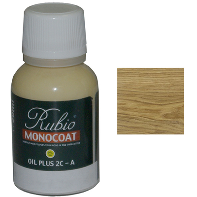 Масло White 5% Rubio Monocoat Oil plus 2C comp A 20 мл