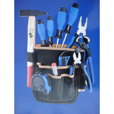 Набор инструментов 12 предметов в поясной сумке.