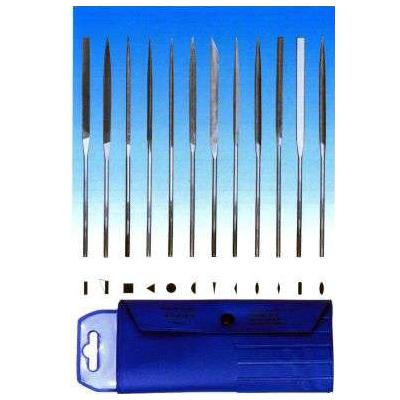 Набор из 12-ти надфилей L140мм, зернистость 0
