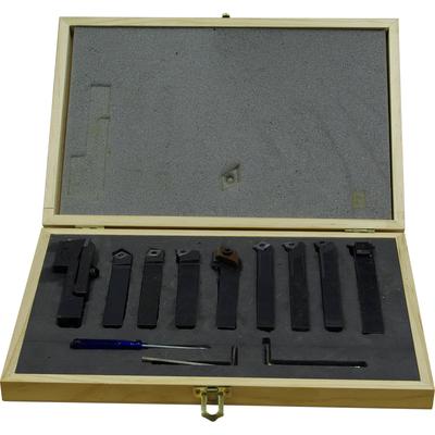 Набор из 9 резцов 12x10 мм с мех.креплением твердосплавных пластин