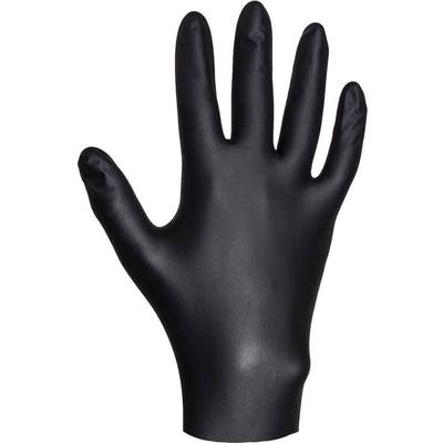 Перчатки нитриловые черные размер M (10 шт)