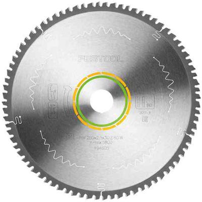 Пильный диск с мелким зубом 260x2,5x30 W80