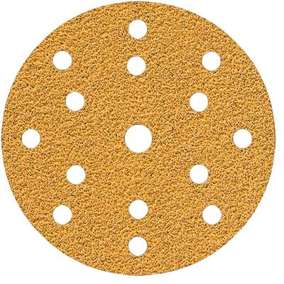Шлифовальный диск для сухой обработки, GOLD 150 мм, 15 отв. зерно 100