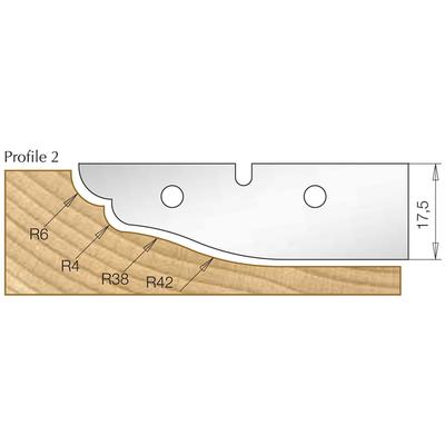 Сменная пластина профиль 2, для фрезы 7510081