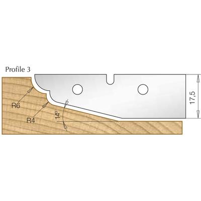 Сменная пластина профиль 3, для фрезы 7510081