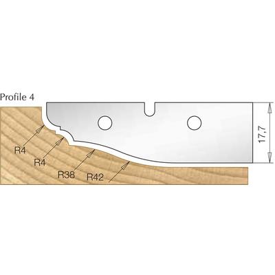 Сменная пластина профиль 4, для фрезы 7510081