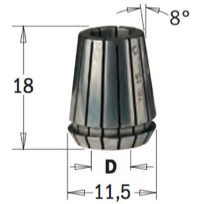 Сменная цанга ER 11, 2 мм