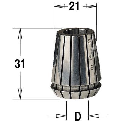 Сменная цанга ER 20, 6,35 мм