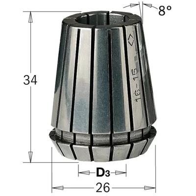 Сменная цанга ER 25, 12 мм