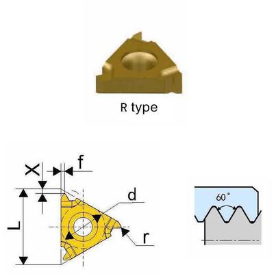 Сменная твердосплавная пластина 16ER-A60