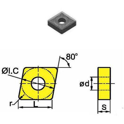 Сменная твердосплавная пластина CNMG120408-GM/SD4125