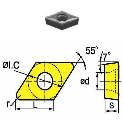 Сменная твердосплавная пластина DCMT070204-HM/SD4125