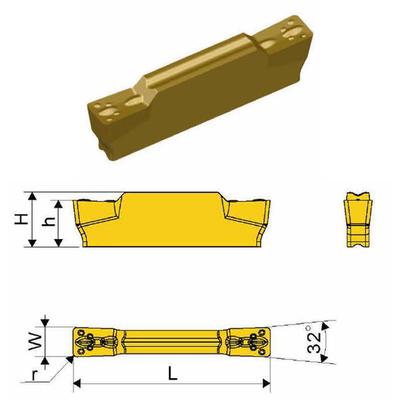 Сменная твердосплавная пластина MGMN200-M/SD1025