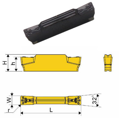 Сменная твердосплавная пластина MGMN300-M/SD1025