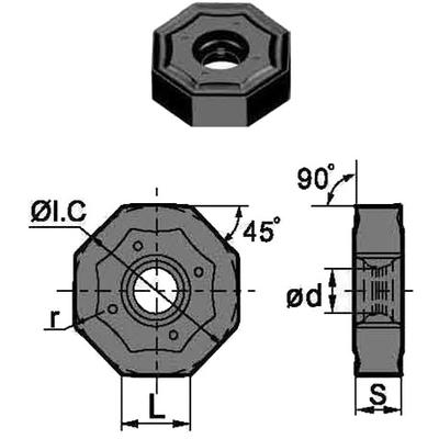 Сменная твердосплавная пластина ONHU060408-PF/YBG202