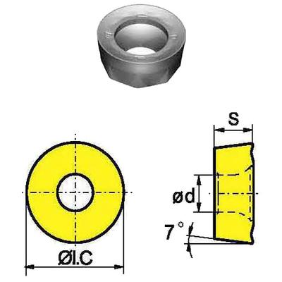 Сменная твердосплавная пластина RCKT2006MO-DR/YBG302