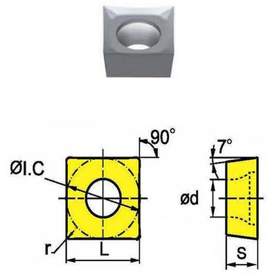 Сменная твердосплавная пластина SCGX09T304-AH/SK001