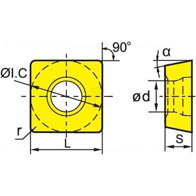 Сменная твердосплавная пластина SPMT120408-PM/YBG302