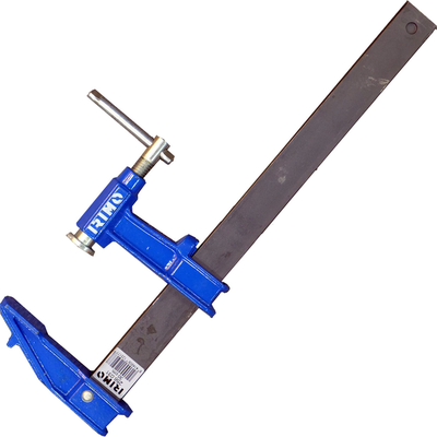 Стальная струбцина с T-образным воротком тип F 120x500 мм