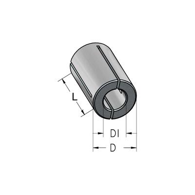Втулка переходная D12 d6,3 L30 тип B