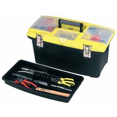 """Ящик для инструмента """"jumbo""""с 2-мя съемными органайзерами в крышке, отсекам для отверт. вставок 19"""""""